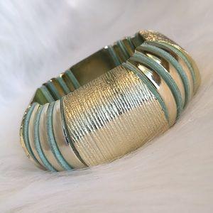 Jewelry - 2 Chunky Bangle Vintage Stretch Wide Bracelets